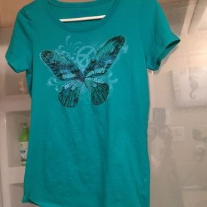 Lucky brand butterfly T shirt XL